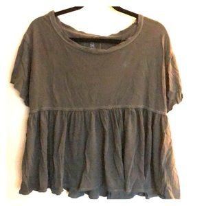 We the Free / Free People Loden Green T, XS